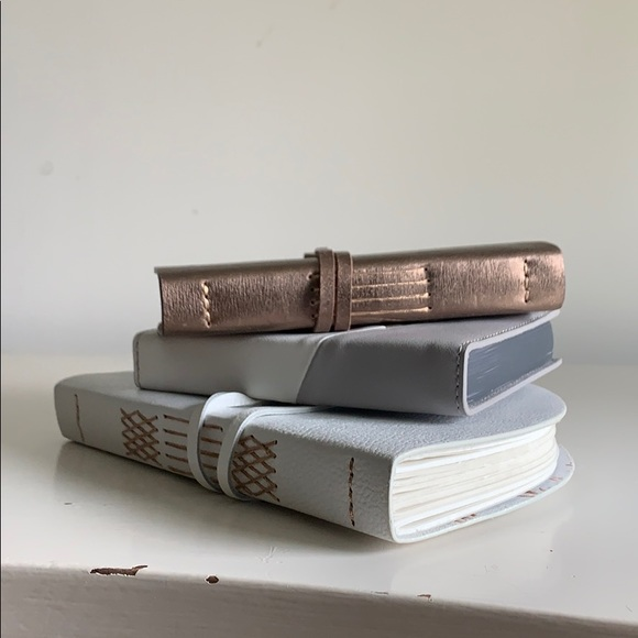 Anthropologie Leather Blank Notebooks (3)